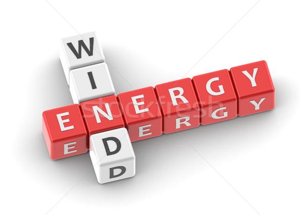 Buzzwords wind energy Stock photo © tang90246
