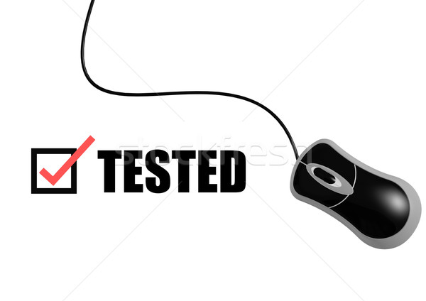 Tested with mouse Stock photo © tang90246