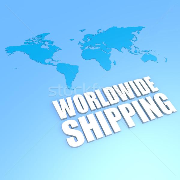 światowy wysyłki mapie świata statku komunikacji informacji Zdjęcia stock © tang90246
