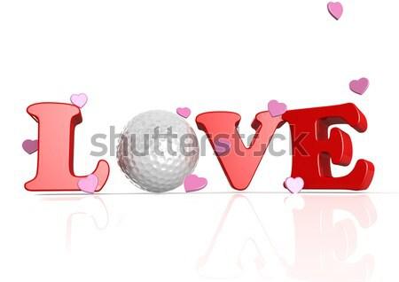 Love word Stock photo © tang90246