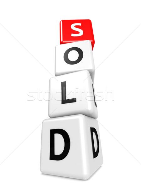 Buzzword sold Stock photo © tang90246