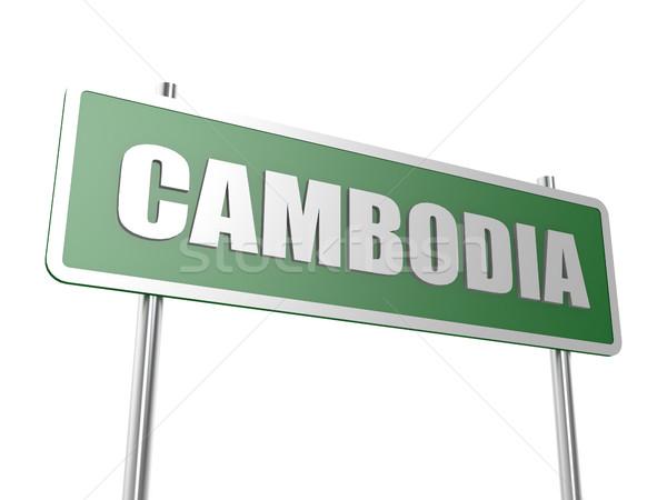 Cambodge image rendu utilisé design graphique Photo stock © tang90246