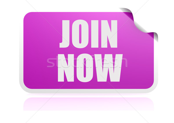 Join now purple sticker Stock photo © tang90246