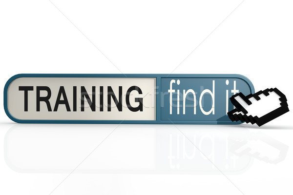 Training word on the blue find it banner Stock photo © tang90246