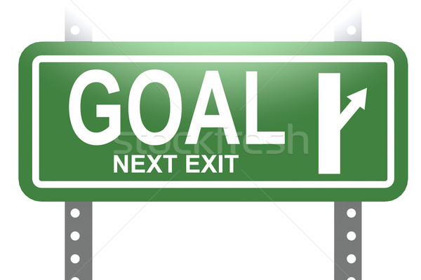 Goal green sign board isolated Stock photo © tang90246