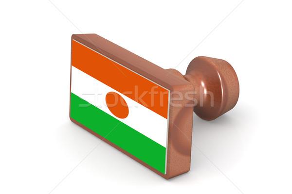 Pieczęć Niger banderą obraz świadczonych Zdjęcia stock © tang90246