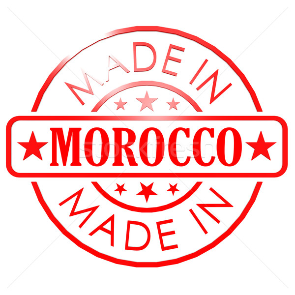 Made in Morocco red seal Stock photo © tang90246