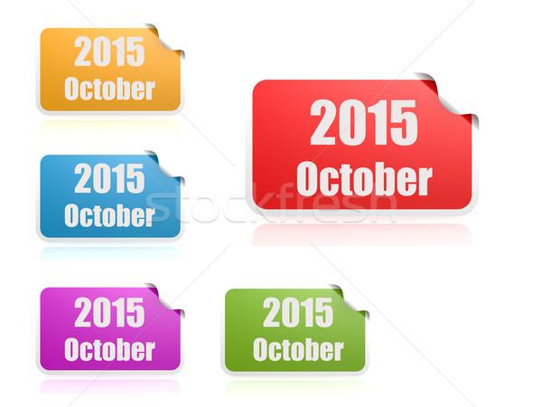 October of 2015 Stock photo © tang90246