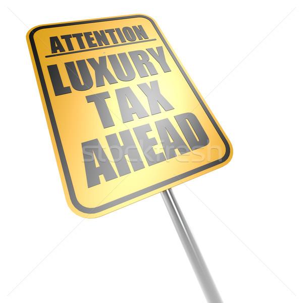 Сток-фото: роскошь · налоговых · впереди · дорожный · знак · бизнеса · деньги