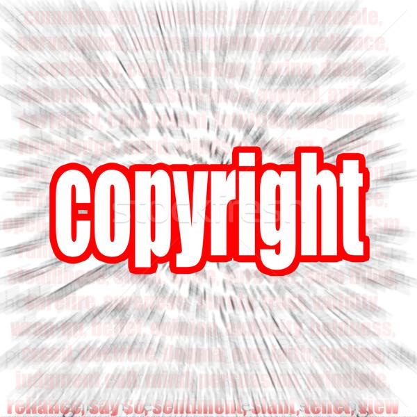 Copyright word cloud Stock photo © tang90246