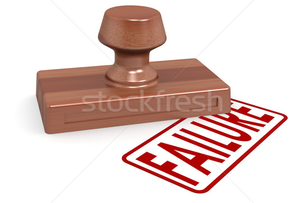 Wooden stamp failure with red text Stock photo © tang90246