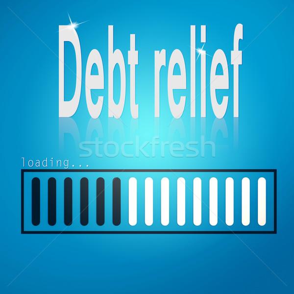 долг рельеф синий Бар изображение оказанный Сток-фото © tang90246