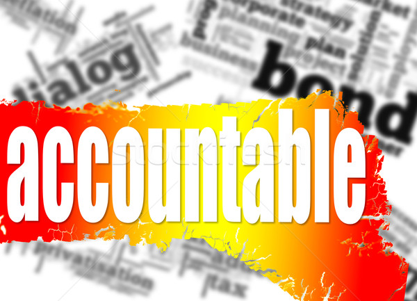 Stock photo: Word cloud with accountable word