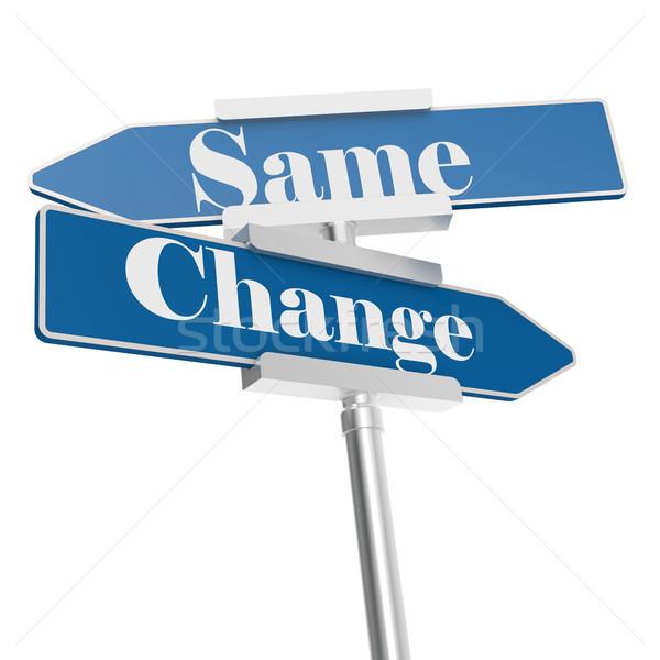 Change and same signs Stock photo © tang90246