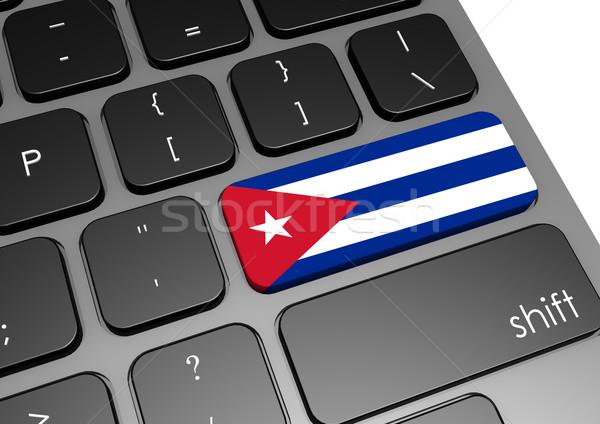 Куба клавиатура изображение оказанный используемый Сток-фото © tang90246