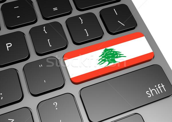 Libanon billentyűzet kép renderelt mű használt Stock fotó © tang90246