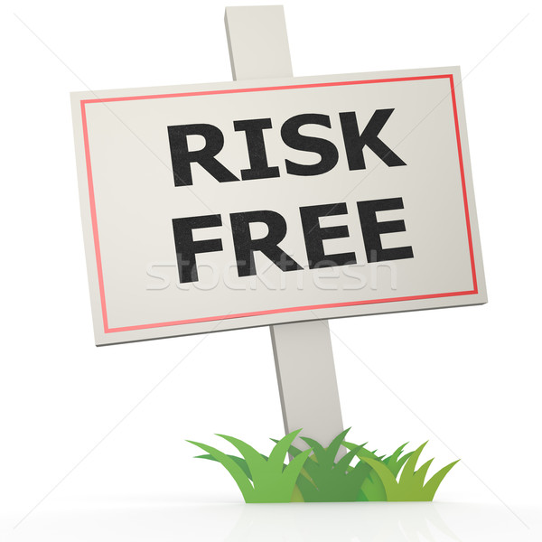 White banner with risk free Stock photo © tang90246