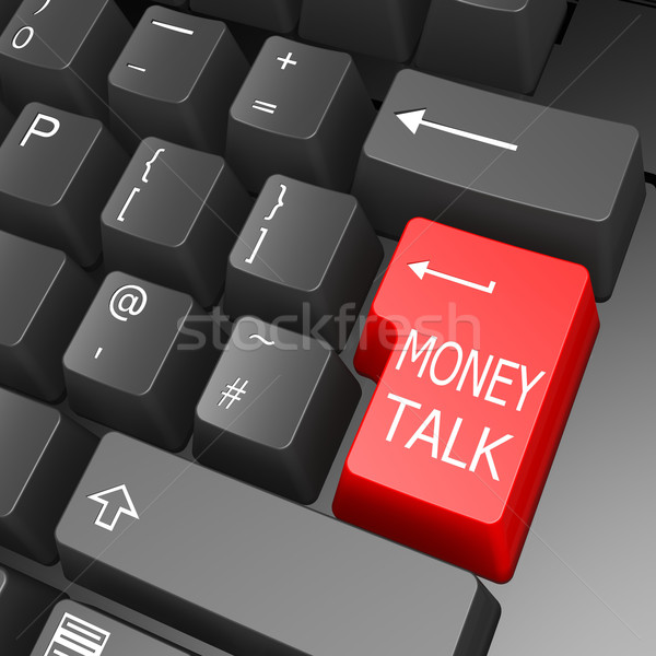 Money talk key on computer keyboard Stock photo © tang90246