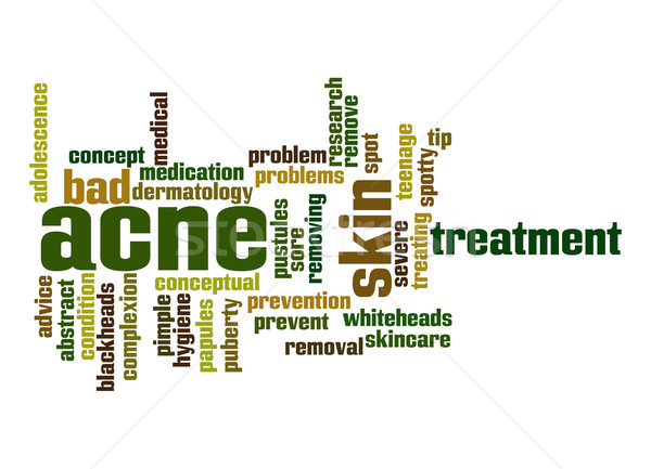 Acne word cloud Stock photo © tang90246