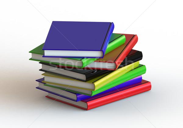Kitaplar görüntü render kullanılmış Stok fotoğraf © tang90246