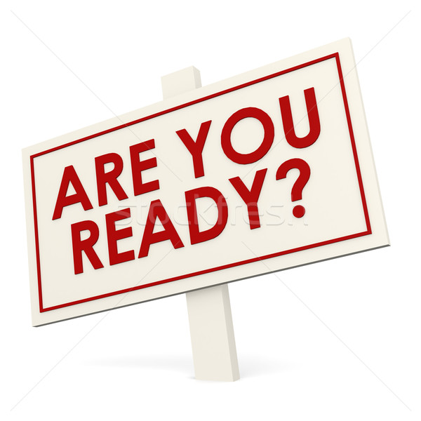 Are you ready banner Stock photo © tang90246