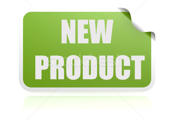 New product green sticker Stock photo © tang90246