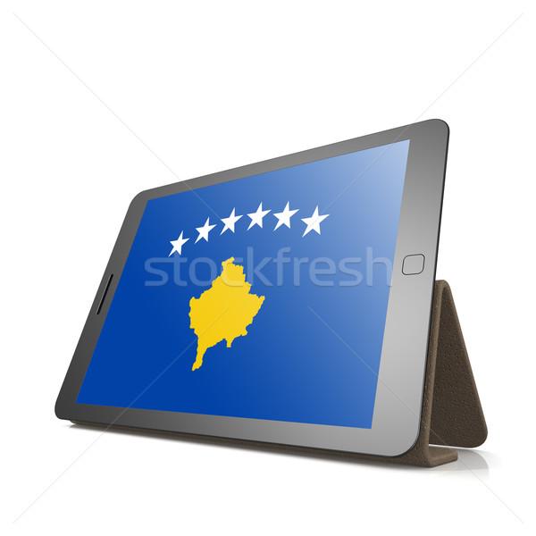 Comprimido Kosovo bandeira imagem prestados Foto stock © tang90246