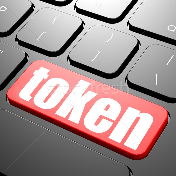 Keyboard with token text Stock photo © tang90246