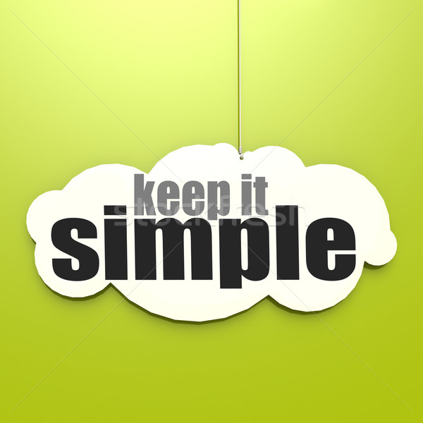 White cloud with keep it simple Stock photo © tang90246
