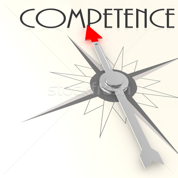 Compass with competence value word Stock photo © tang90246