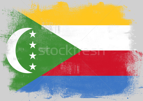 Flag of Comoros painted with brush Stock photo © tang90246