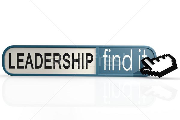 Leiderschap woord Blauw vinden banner afbeelding Stockfoto © tang90246