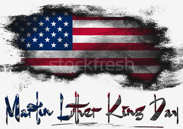 Flag of United States, USA Martin Luther King Day Stock photo © tang90246