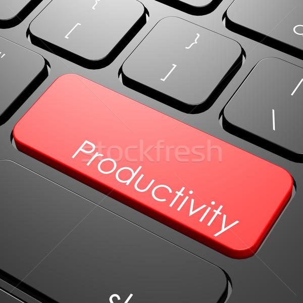 Produktivitás billentyűzet kép renderelt mű használt Stock fotó © tang90246