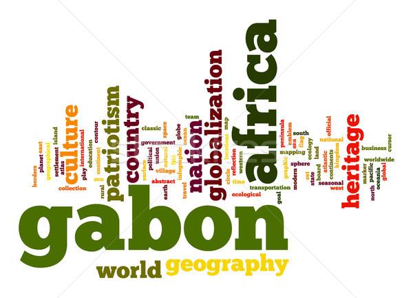 Габон слово облако бизнеса Мир Африка облаке Сток-фото © tang90246