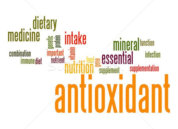 Antioksidan kelime bulutu gıda tıp diyet Stok fotoğraf © tang90246