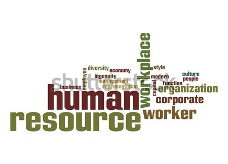 Human resource word cloud Stock photo © tang90246