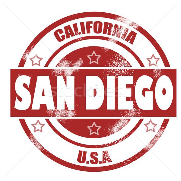 San Diego stempel afbeelding gerenderd gebruikt Stockfoto © tang90246