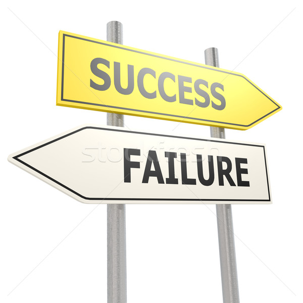 Success failure road sign Stock photo © tang90246