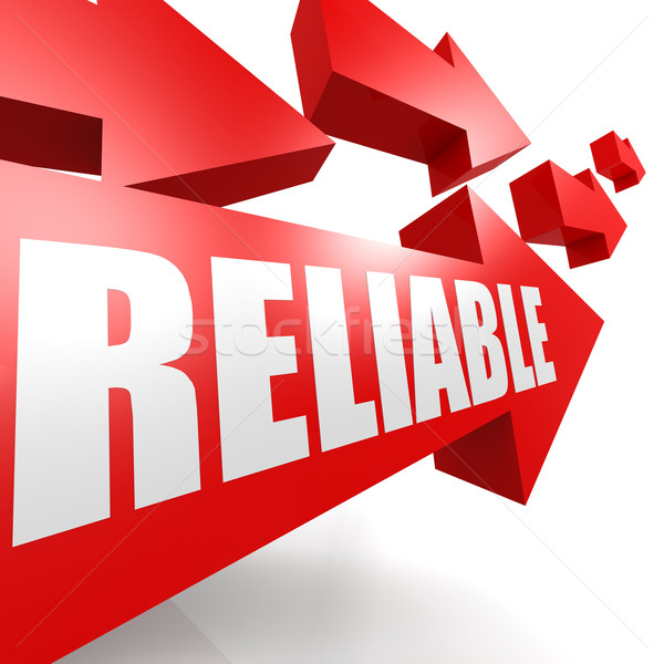 Reliable arrow red Stock photo © tang90246