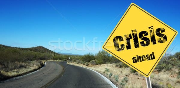 Crisis ahead sign Stock photo © tang90246