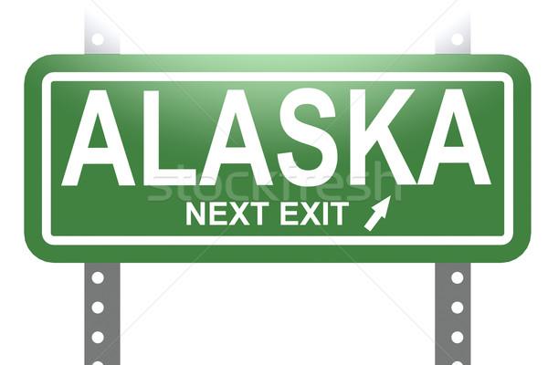 Alaska verde segno bordo isolato immagine Foto d'archivio © tang90246