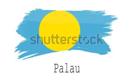 フラグ パラオ 描いた ブラシ 固体 抽象的な ストックフォト © tang90246
