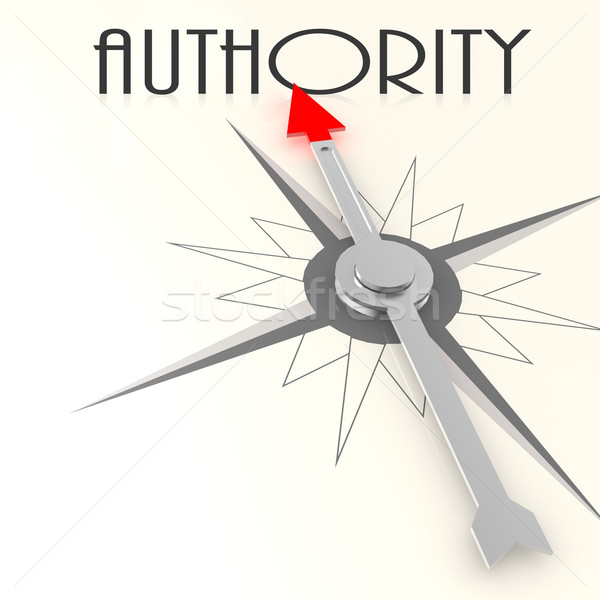 Compass with authority word Stock photo © tang90246