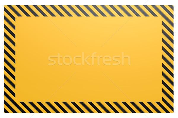 Amarelo preto bandeira imagem prestados Foto stock © tang90246