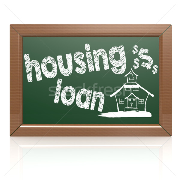 Housing loan words on a chalkboard Stock photo © tang90246