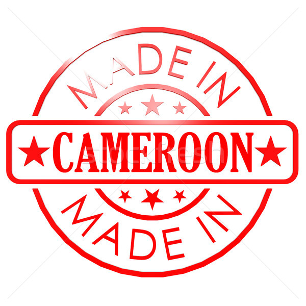 Made in Cameroon red seal Stock photo © tang90246