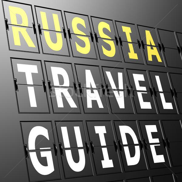 Lotniska Widok Rosja podróży przewodnik podpisania Zdjęcia stock © tang90246