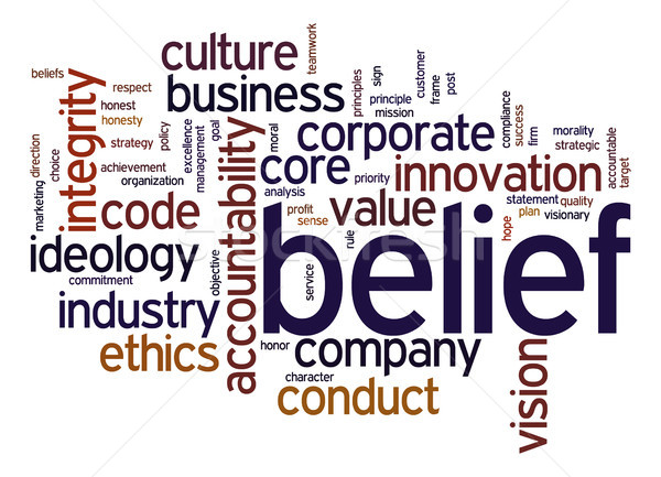 Convinzione word cloud business industria corporate società Foto d'archivio © tang90246