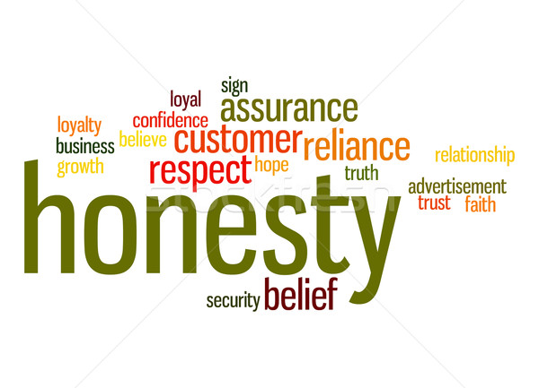 Honesty word cloud Stock photo © tang90246